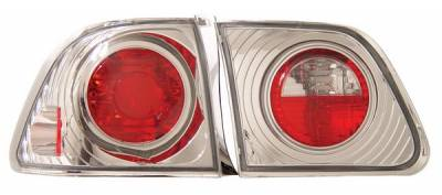 Anzo - Honda Civic 4DR Anzo Taillights - Chrome - 221066