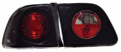 Anzo - Honda Civic 4DR Anzo Taillights - Black - 221068
