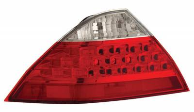 Anzo - Honda Accord 4DR Anzo Taillights - Red & Clear - 221143