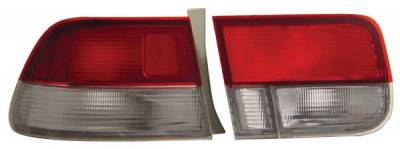 Anzo - Honda Civic 2DR Anzo Taillights - Red & Clear - OEM Style - 221147