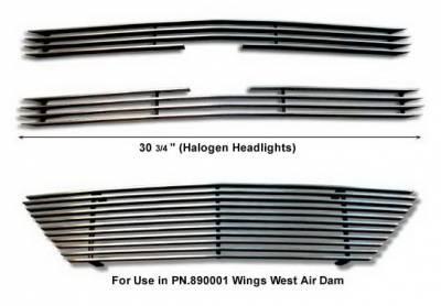 Wings West - Chevrolet S10 Wings West Billet Grille Set - 3PC - 302010
