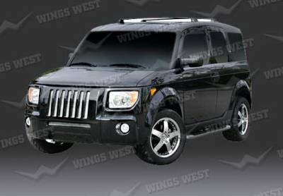 Wings West - Honda Element Wings West H2 Grille - 890872
