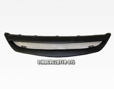 VIS Racing - Honda Civic 2DR VIS Racing Type-R Carbon Fiber Front Grille - 01HDCVC2DTYR-015
