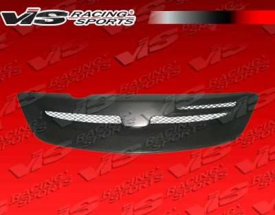 VIS Racing. - Honda Civic HB VIS Racing Type R Front Grille - Carbon Fiber - 02HDCVCHBTYR-015C