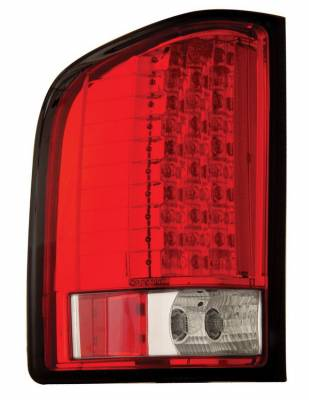 Anzo - Chevrolet Silverado Anzo LED Taillights - Red & Clear - 311047