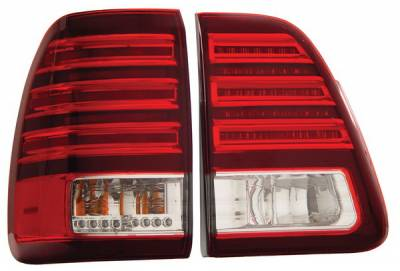 Anzo - Toyota Land Cruiser Anzo LED Taillights - Red & Clear - 311085
