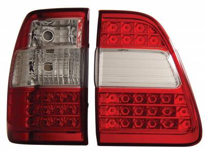 Anzo - Toyota Land Cruiser Anzo LED Taillights - G2 - Red & Clear - 311094