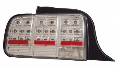 Anzo - Ford Mustang Anzo LED Taillights - Chrome - 321019