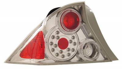 Anzo - Honda Civic 2DR Anzo LED Taillights - Chrome - 321032