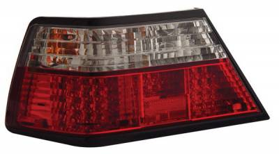 Anzo - Mercedes-Benz E Class Anzo LED Taillights - Crystal Lens - Red & Clear - 321051