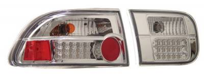 Anzo - Honda Civic 2DR & 4DR Anzo LED Taillights - G2 - Chrome - 321087