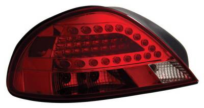 Anzo - Pontiac Grand Am Anzo LED Taillights - Red & Clear - 321093