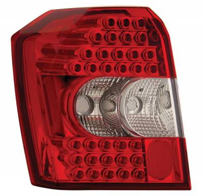 Anzo - Dodge Caliber Anzo LED Taillights - Crystal Lens - Red & Clear - 321110