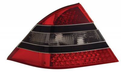 Anzo - Mercedes-Benz S Class Anzo LED Taillights - Red & Smoke - Black Center - 321118