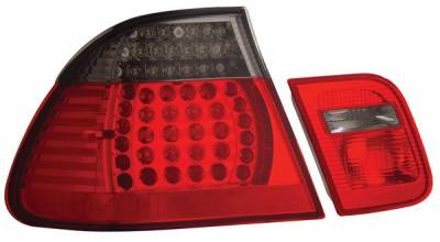 Anzo - BMW 3 Series 4DR Anzo LED Taillights - Red & Smoke - 4PC - 321126