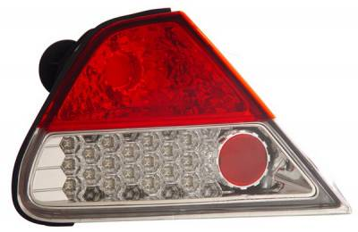 Anzo - Honda Accord 2DR Anzo LED Taillights - Red & Clear - 321134