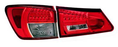 Anzo - Lexus IS Anzo LED Taillights - Red & Clear - 321154