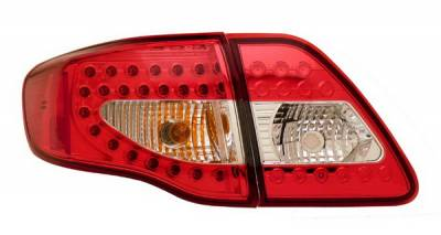 Anzo - Toyota Corolla Anzo LED Taillights - Red & Clear - 4PC - 321171