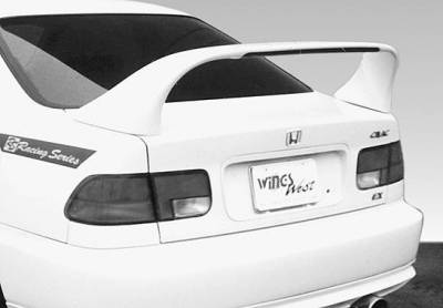 VIS Racing - Honda Civic 2DR VIS Racing Super Style Wing without Light - 591035