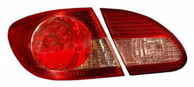 Anzo - Toyota Corolla Anzo LED Taillights - Red & Clear - 4PC - 321190
