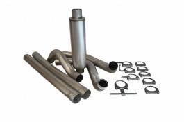 Bully Dog - Ford F250 Bully Dog Single Turbo Back Exhaust Kit with Tip - Aluminized Steel - 81010