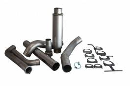 Bully Dog - Ford F250 Bully Dog Single Turbo Back Exhaust Kit with Tip - Aluminized Steel - 81052