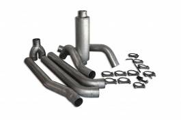 Bully Dog - Ford F250 Bully Dog Dual Cat Back Exhaust Kit with Tip - Aluminized Steel - 81120