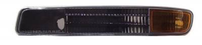 Anzo - GMC Sierra Anzo Bumper Lights - Black with Amber Reflector - 511005