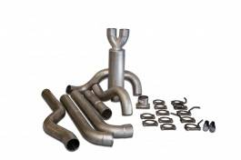 Bully Dog - GMC Sierra Bully Dog Dual Cat Back Exhaust Kit with Tip - Aluminized Steel - 83240