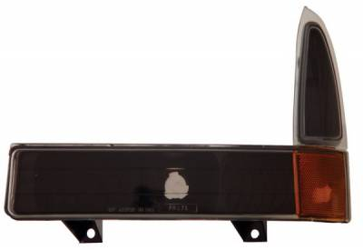 Anzo - Ford Superduty Anzo Parking Lights - Black with Amber Reflector - 511040