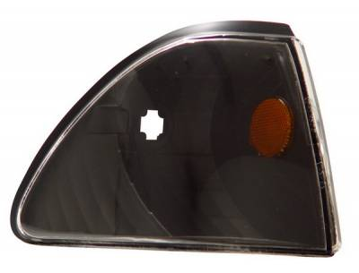 Anzo - Ford Mustang Anzo Euro Corner Lights - Black with Amber Refelctors - 521024