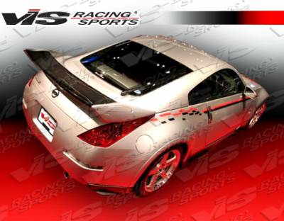 VIS Racing - Nissan 350Z VIS Racing Techno-R 2 Spoiler Carbon Fiber Center Blade + End Cap - 03NS3502DTNR2-003CC