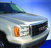 AVS - GMC Sierra AVS Aeroskin Hood Shield - Chrome - 622003
