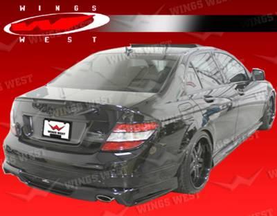 VIS Racing - Mercedes-Benz C Class VIS Racing JPC Rear Spoiler - Polyurethane - 08MEW2044DJPC-003P