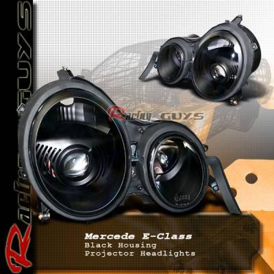 Custom - W210 Black Euro Pro Headilghts