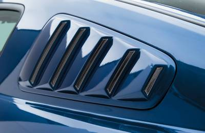 3dCarbon - Ford Mustang 3dCarbon Window Louvers - Pair - 691014