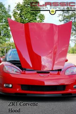 CDC - Chevrolet Corvette CDC Smooth Hood - 0542-7011-01