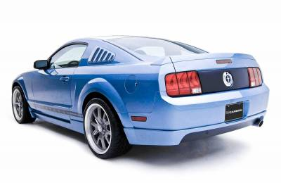3dCarbon - Ford Mustang 3dCarbon Rear Lower Skirt - Single Exhaust Port - 691033