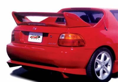 VIS Racing - Honda Del Sol VIS Racing Adjustable Commando Style Wing with Light - 591416L