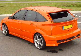 VIS Racing - Ford Focus Wagon VIS Racing ZX3 Whaletail Roof Spoiler Wing with Light - 591519L