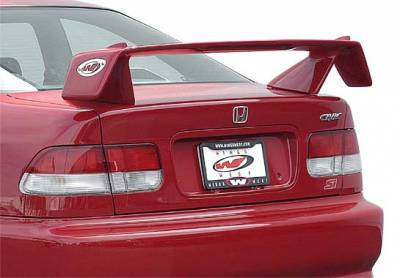 VIS Racing - Honda Civic 2DR VIS Racing Rally Series Wing with Light - 591581L