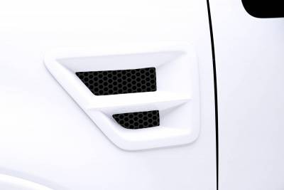 3dCarbon - Ford F150 3dCarbon Type I Front Fender Vent with Grille & Horizontal Cross Bar- Pair - 691106