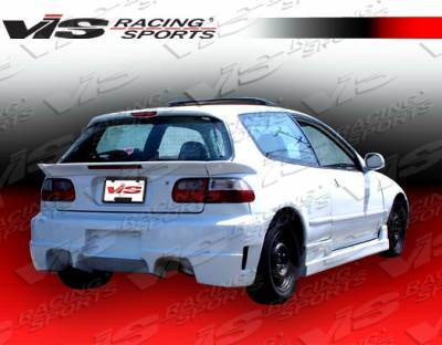 VIS Racing - Honda Civic HB VIS Racing Mid Spoiler - 3PC - 92HDCVCHB3PC-003