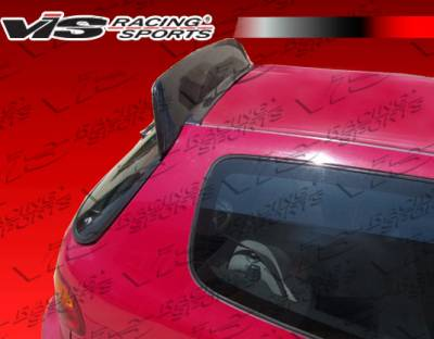 VIS Racing - Honda Civic HB VIS Racing Back Street Carbon Fiber Roof Spoiler - 92HDCVCHBBS-023C
