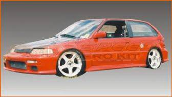 Bayspeed. - Honda Civic HB Bay Speed Mugen Style Side Skirts - 1121M