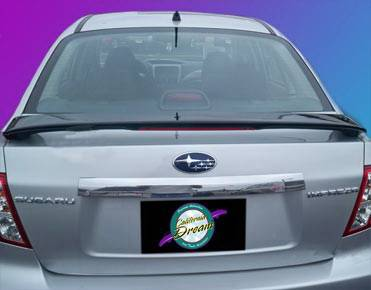 California Dream - Subaru Impreza California Dream Custom Style Spoiler with Light - Unpainted - 14L