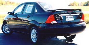 California Dream - Ford Focus 4DR California Dream Custom Style Spoiler - Unpainted - 15N2