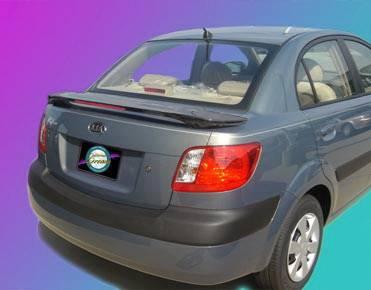 California Dream - Hyundai Accent 4DR California Dream Custom Style Spoiler with Light - Unpainted - 162L
