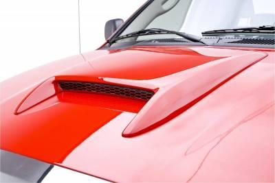 3dCarbon - Dodge Ram 3dCarbon Hood Scoop - 22 Inch - 691321
