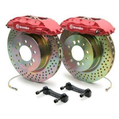 Brembo - BMW 6 Series Brembo Gran Turismo Brake Kit with 4 Piston 332x32 Disc & 1-Piece Rotor - Front - 1Bx.7001A